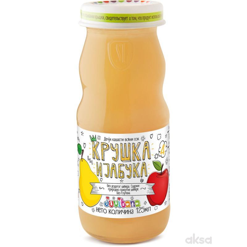 Juvitana kašasti sok kruška i jabuka 125ml