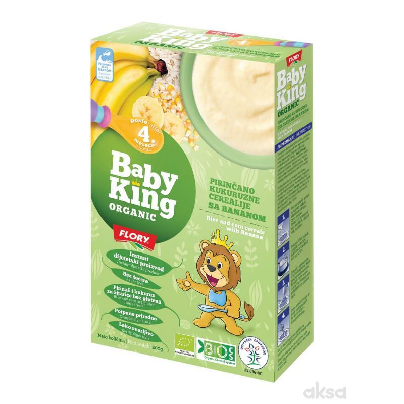 Baby king instant kaša pir. kuk. ban. organic 200g