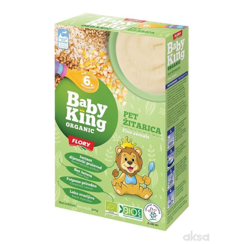 Baby king instant kaša 5 žitarica organic 200g