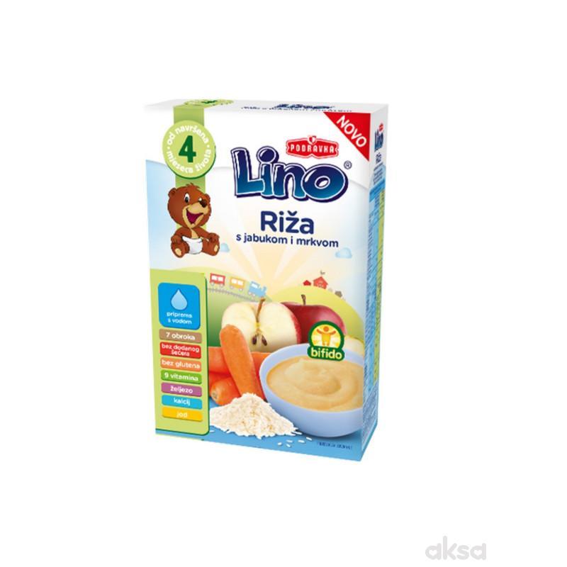 Lino mlečna instant kaša riža, jab.i mrk. 210g