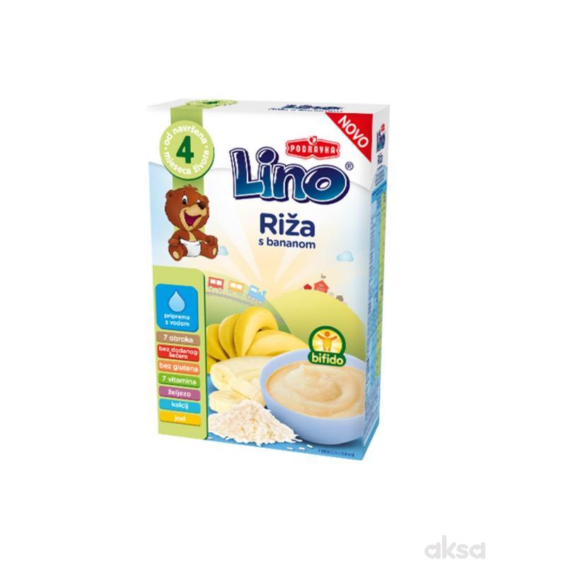 Lino mlečna instant kaša riža sa bananom 210g