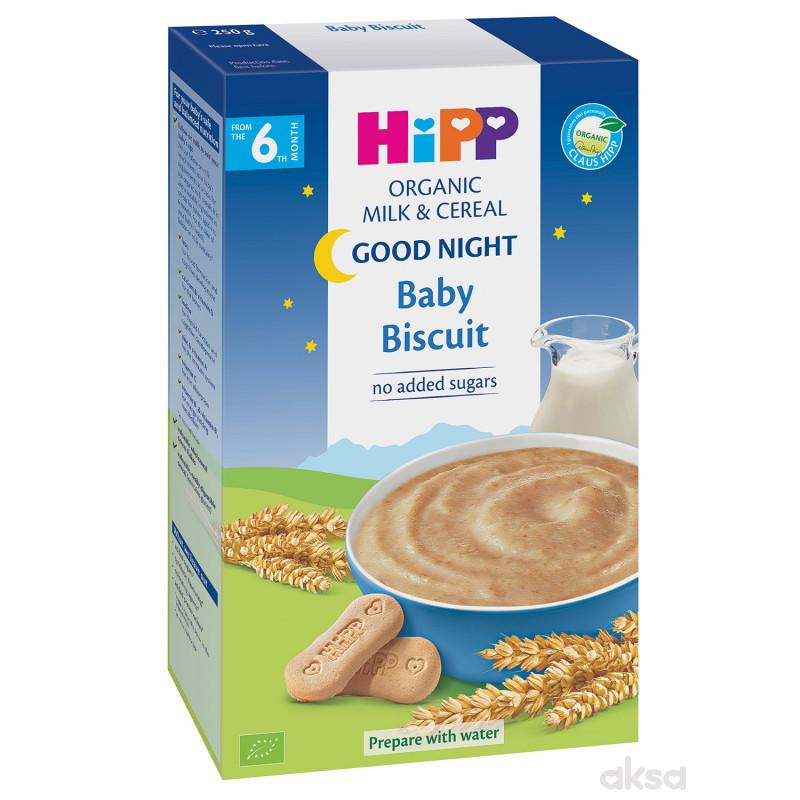 Hipp mlečna instant kaša za l. noć sa keksom 250g
