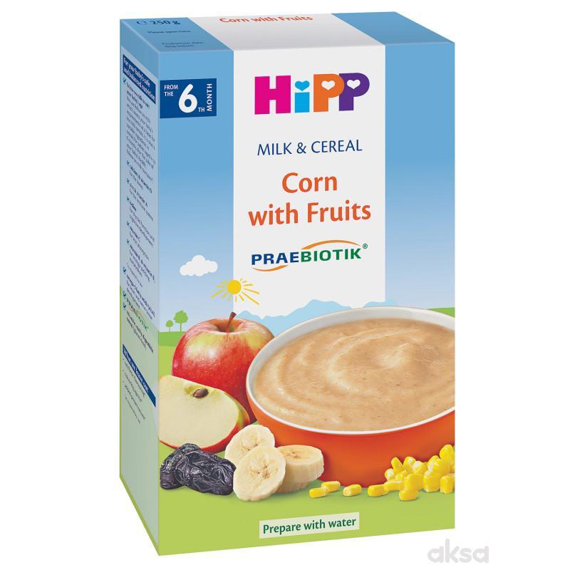 Hipp mlečna instant kaša kukuruz i voće 250g
