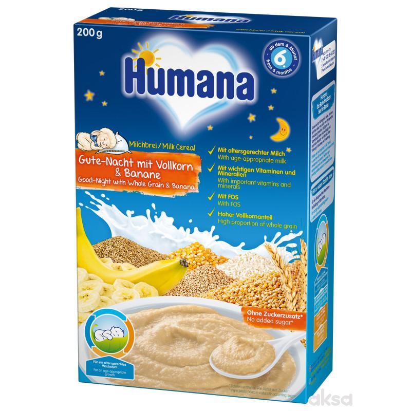 Humana ml. ins. kaša za l. noć žit. i banana 200g,
