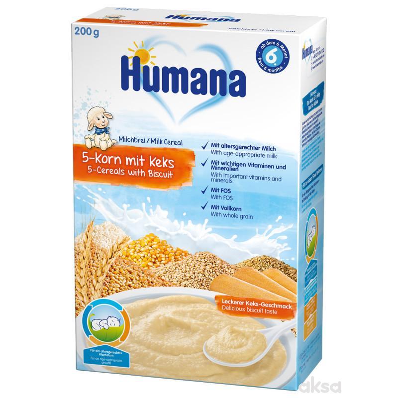 Humana ml. ins. kaša sa 5 žitarica i keksom 200g