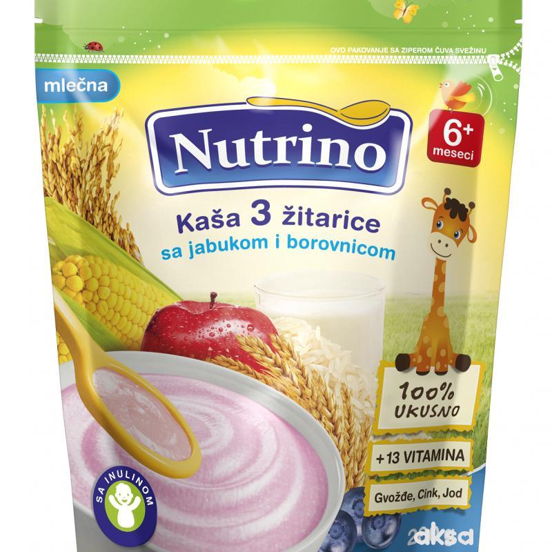 Nutrino ml. instant kaša 3 žit sa jab i boro. 200g