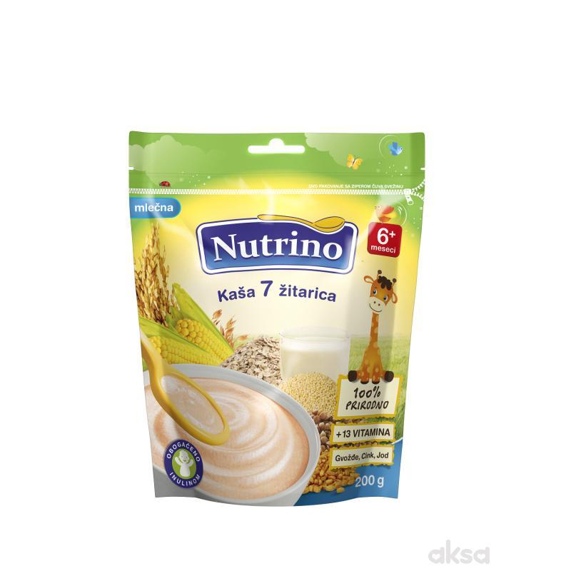 Nutrino mlečna instant kaša 7 žitarica 200g