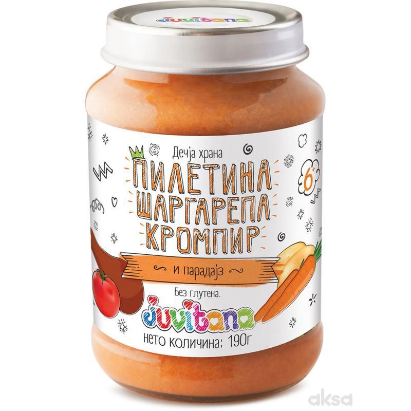 Juvitana kašica piletina, krom., mrkva i par. 190g