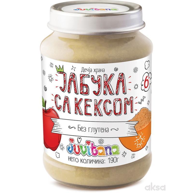 Juvitana kašica jabuka i keks 190g