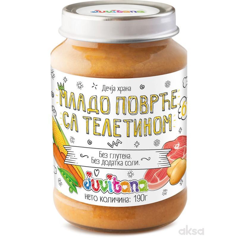 Juvitana kašica mlado povrće sa teletinom 190gr