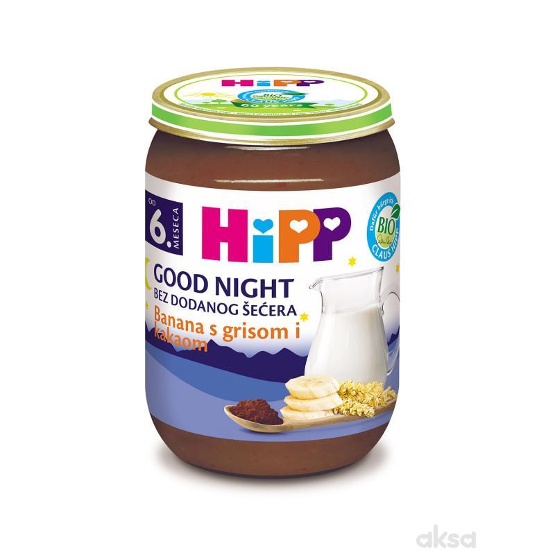 Hipp kašica za l. noć banana, griz i kakao 190g