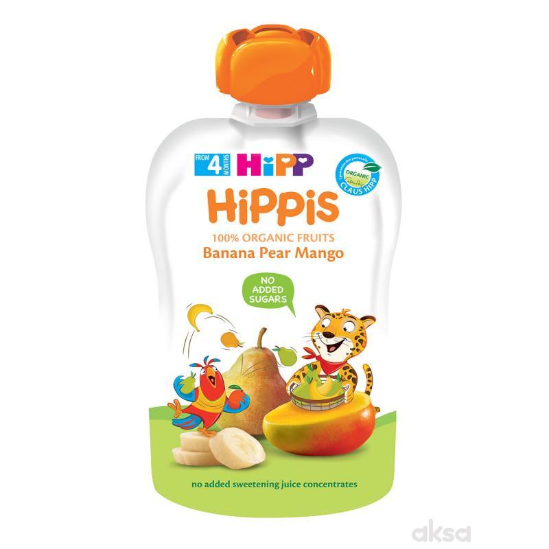 Hipp pouch banana, kruška, mango 100g