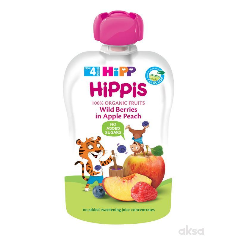 Hipp pouch šumsko voće, jabuka, breskva 100g