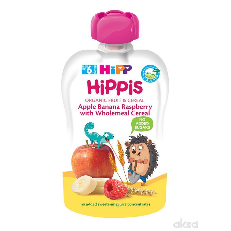 Hipp pouch jabuka, banana, malina sa int.žit. 100g