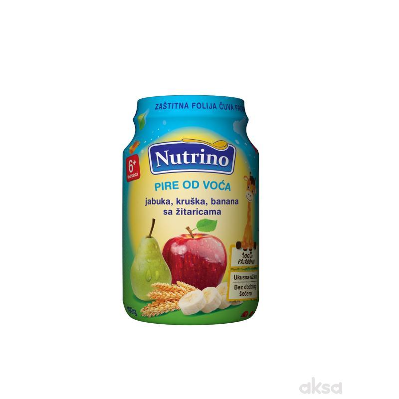 Nutrino kašica jabuka, kruška, banana sa žit. 190g