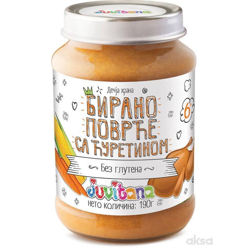 Juvitana kašica birano povrće sa ćuretinom 190g