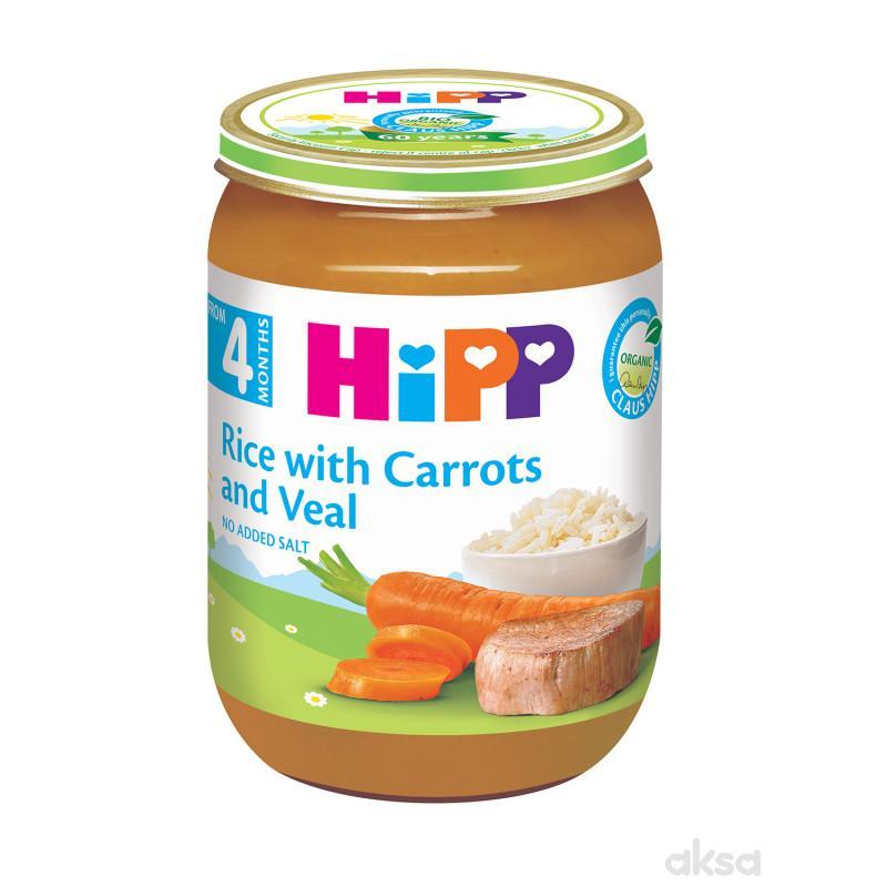 Hipp kašica šargarepa sa pirinčem i teletinom 190g
