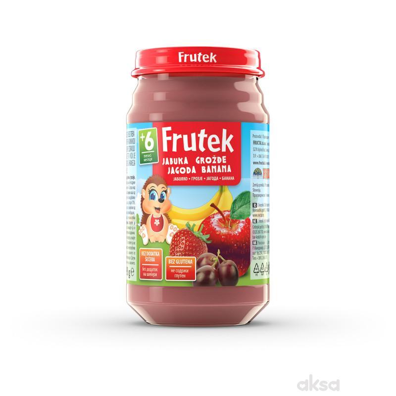Frutek kašica jabuka, grožđe, jagoda i banana 190g
