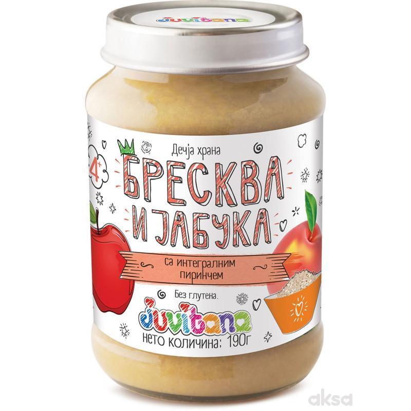 Juvitana kašica breskva i jabuka sa int. pir. 190g