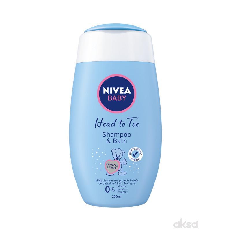 Nivea baby šampon i kupka 200ml
