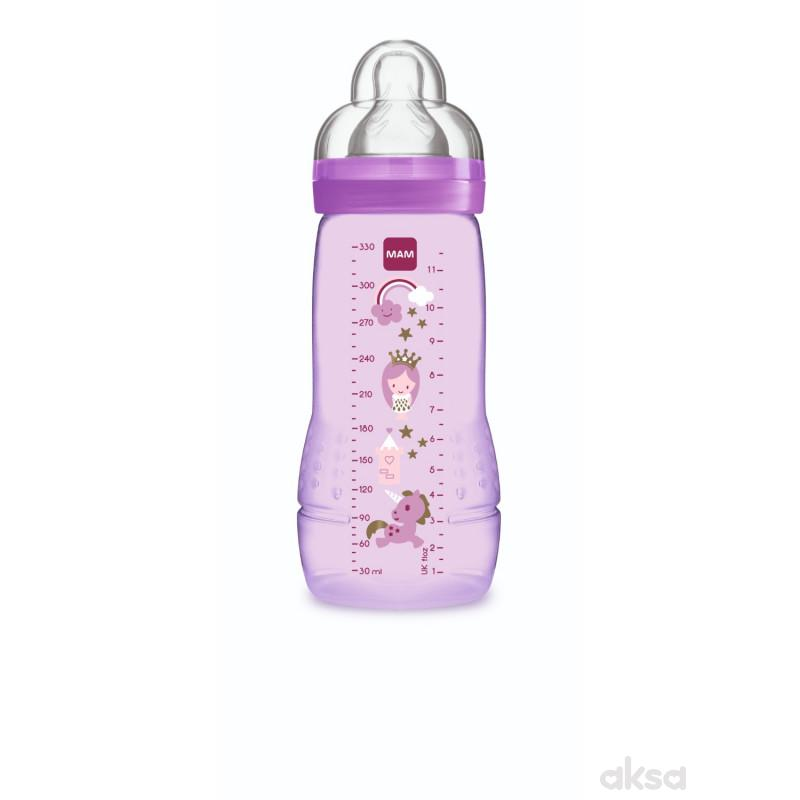 MAM flašica Baby bottle 330ml, silikon, 4m+
