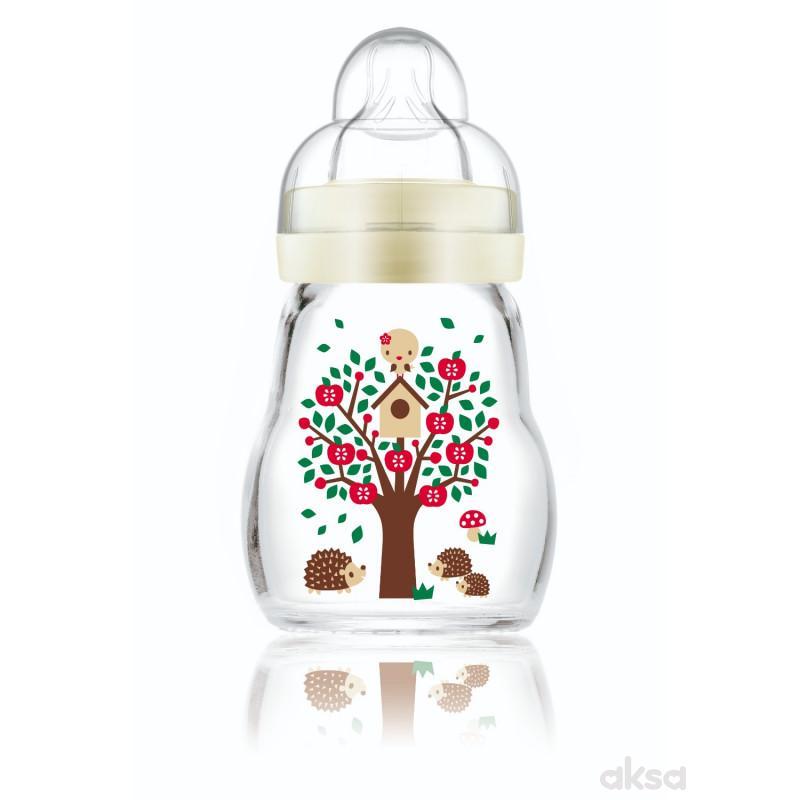 MAM staklena flašica silikon 170ml, 0m+