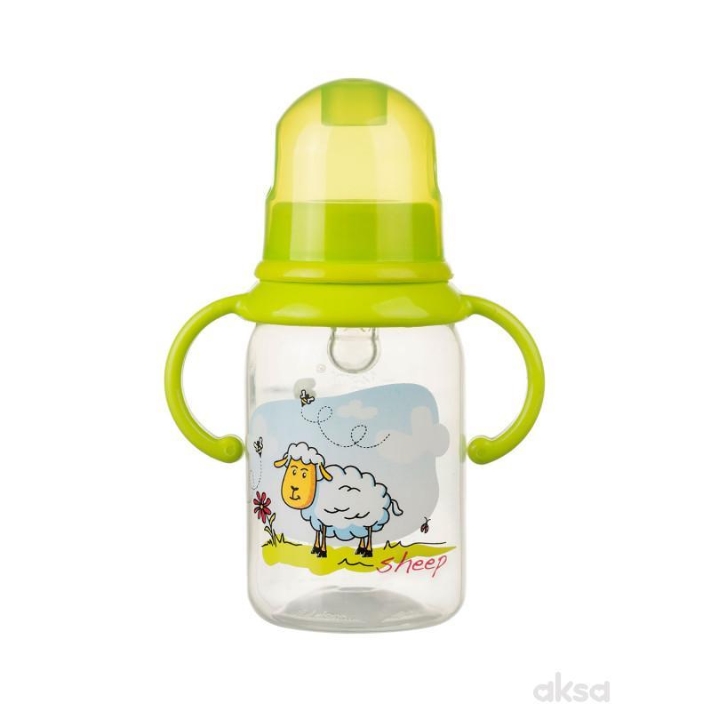 Akuku flašica PP 125 ml, silikon ručke