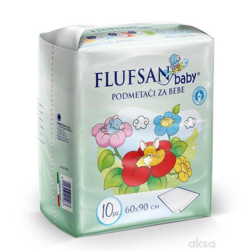 Flufsan baby nepromočivi podmetač 60x90 10 kom
