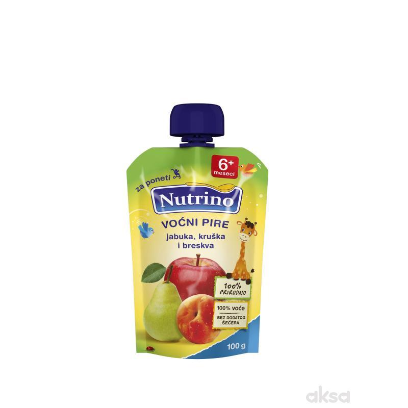 Nutrino pouch jabuka, kruška i breskva 100g