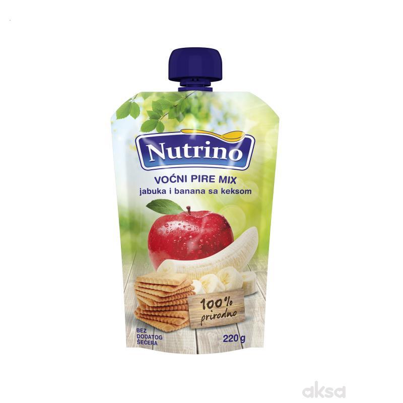 Nutrino pouch mix jabuka i banana sa keksom 220g