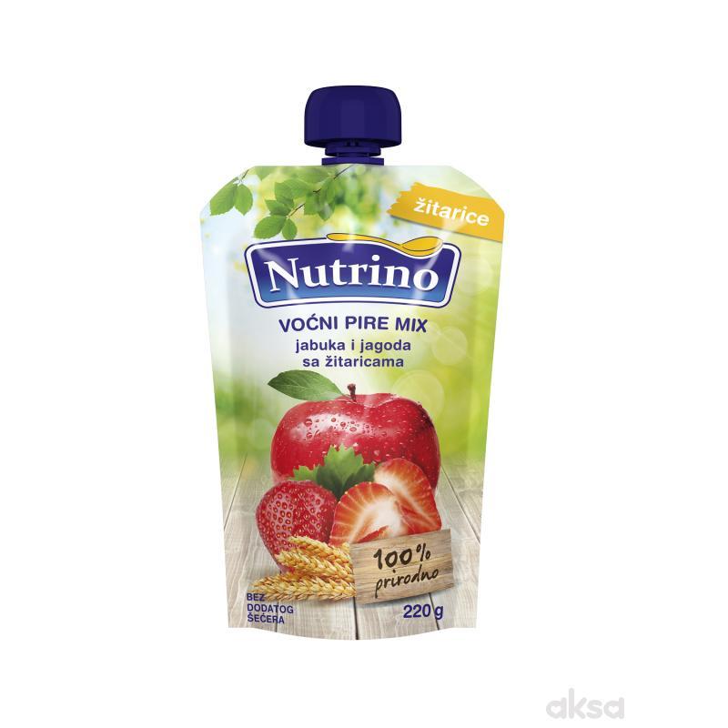 Nutrino pouch mix jabuka i jagoda sa žitar. 220g
