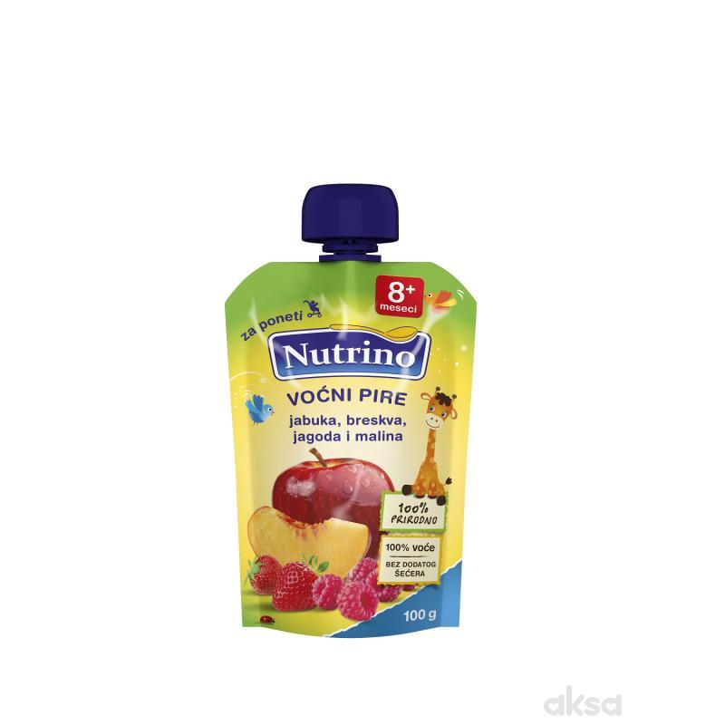 Nutrino pouch jabuka, breskva, jagoda, malina 100g