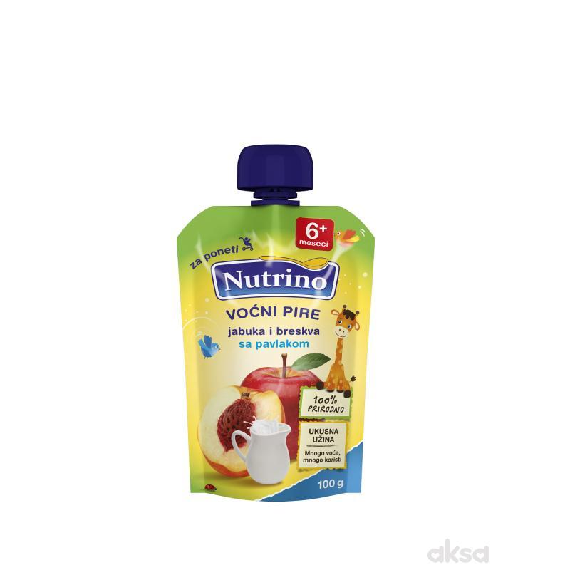 Nutrino pouch jabuka i breskva sa pavlakom 100g