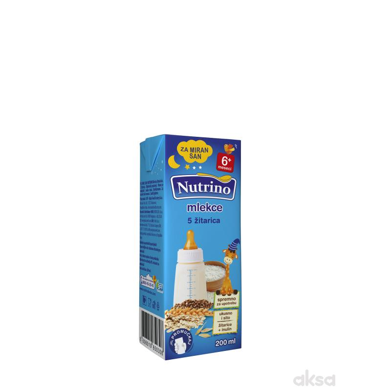 Nutrino mlekce tečna kaša 5 žitarica 200ml