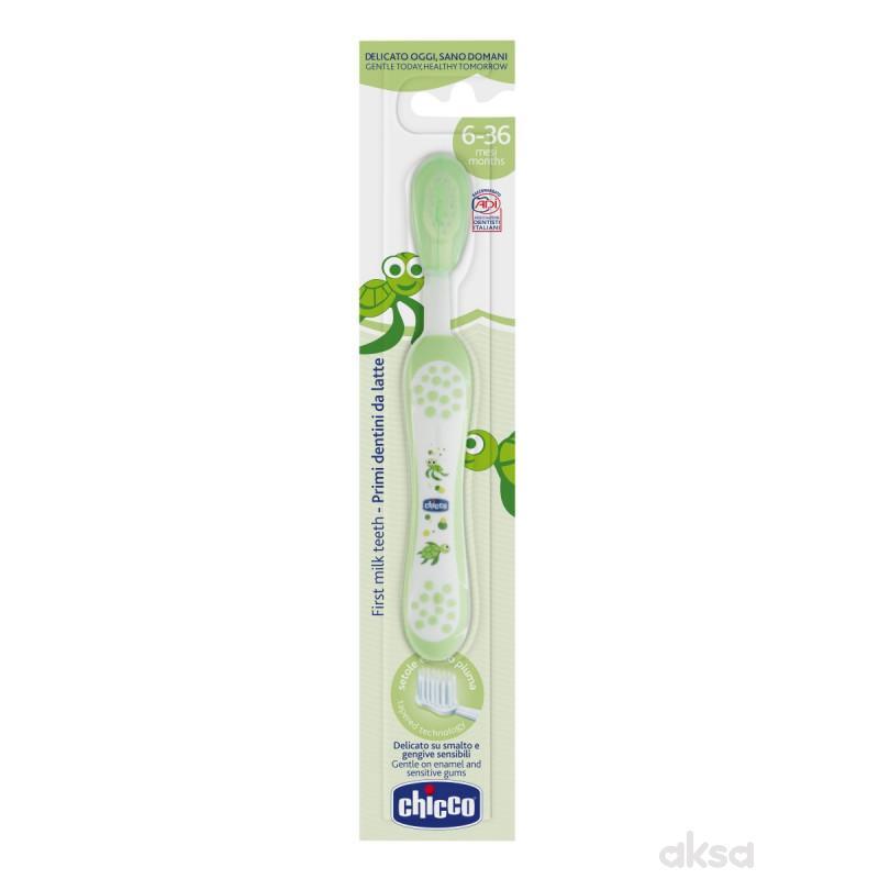 Chicco bm četkica za zube zelena od 6 meseci