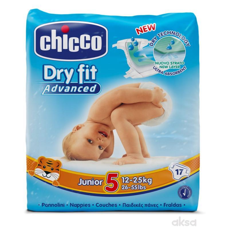 Chicco pelene DRYFIT 5 Junior , 12-25 kg, 17 kom.