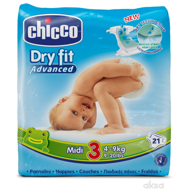 Chicco pelene DRYFIT 3 Midi 4-9 kg,21 kom