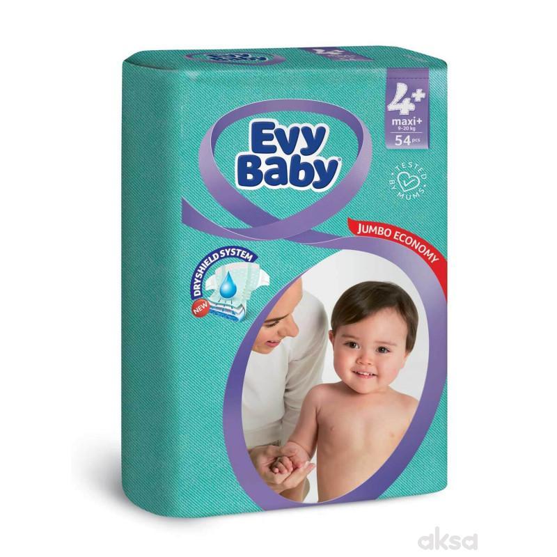 Evybaby pelene jumbo 4+ maxi plus 9-20kg 54kom