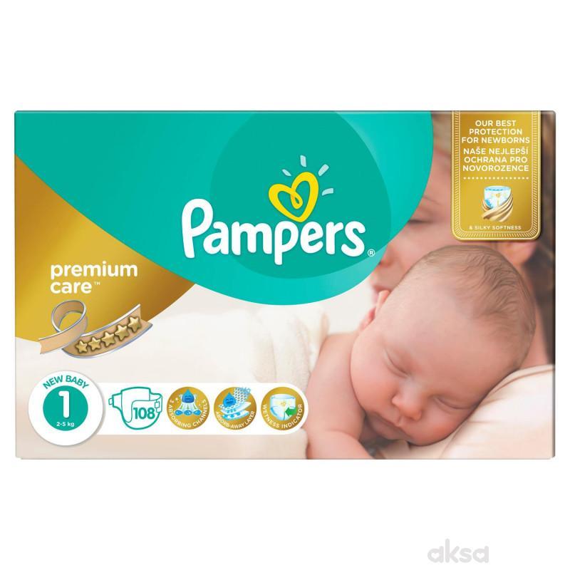 Pampers pelene premium JP 1 newborn 2-5kg 108kom