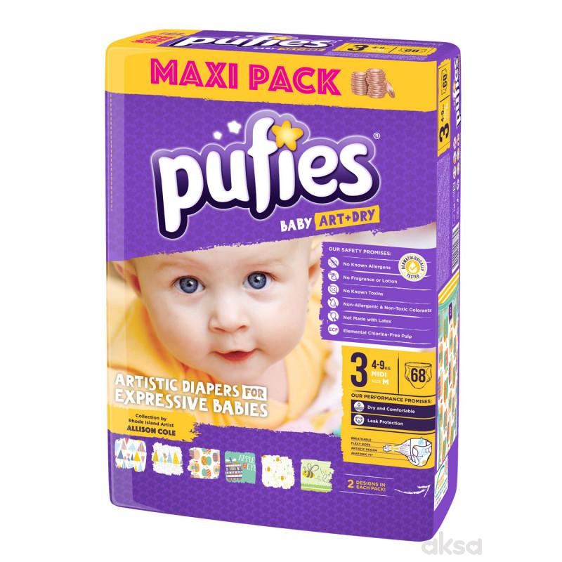 Pufies pelene baby art MP 3 midi 4-9kg 68kom