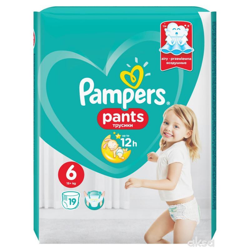 Pampers pants pelene RP 6 extra large 16+kg 19kom