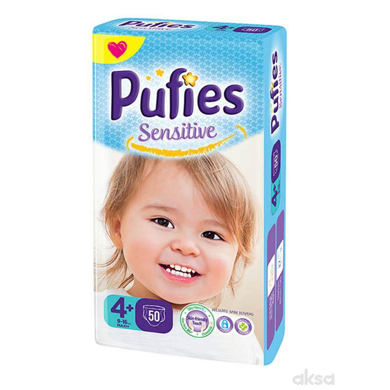 Pufies pelene sensitive MP 4+ maxi+ 9-16kg 50kom