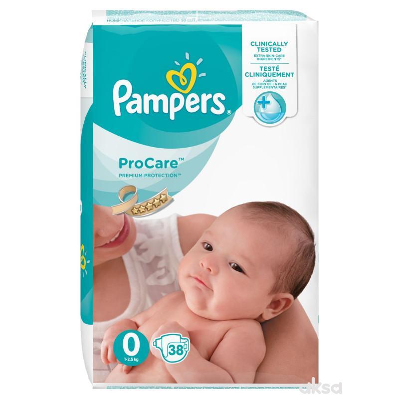 Pampers pelene pro care 0 newbaby 1-2.5kg 38kom