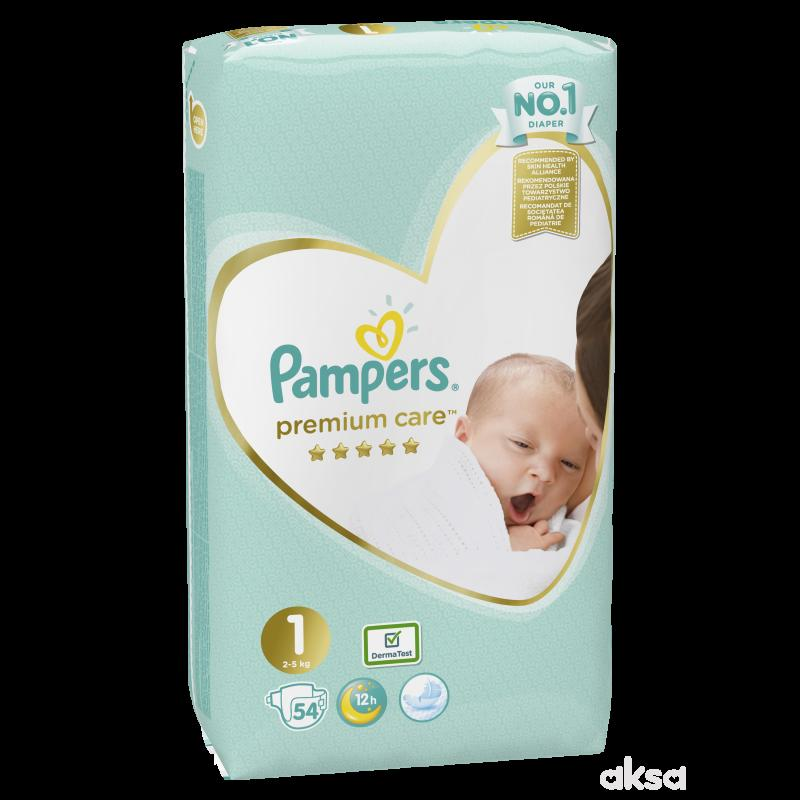 Pampers pelene premium VP 1 newborn 2-5kg 54kom