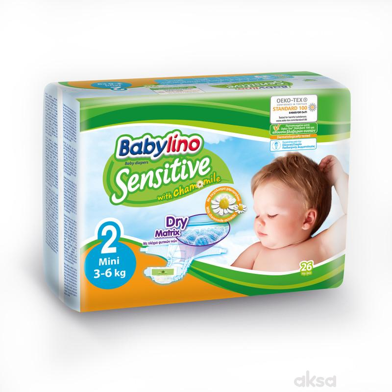 Babylino pelene sensitive 2 mini 3-6kg 26kom