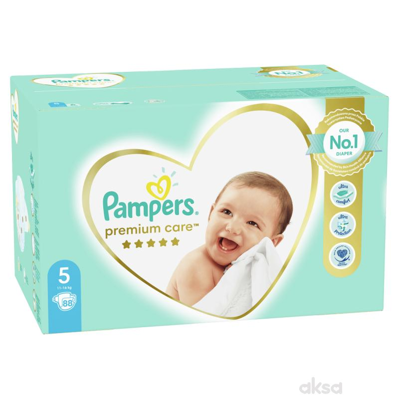 Pampers pelene premium MB 5 junior 11-18kg 88kom