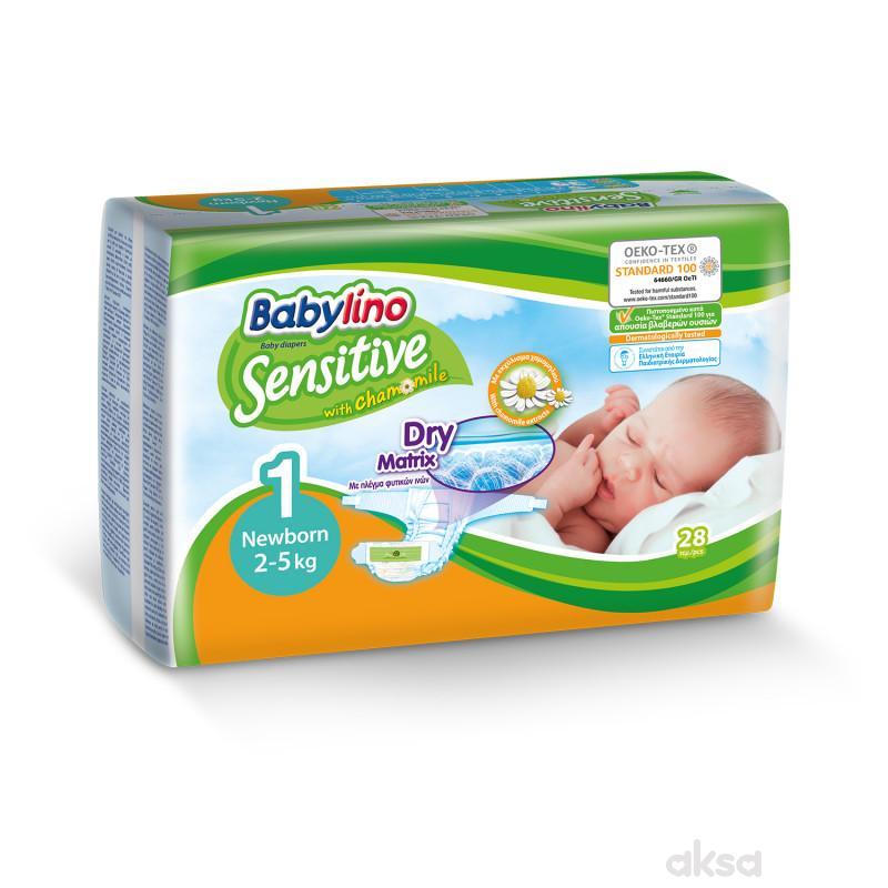 Babylino pelene sensitive 1 newborn 2-5kg 28kom