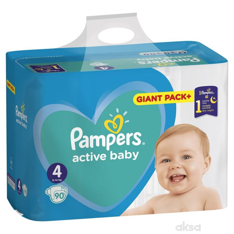 Pampers pelene active baby bag 4 maxi 9-14kg 90kom