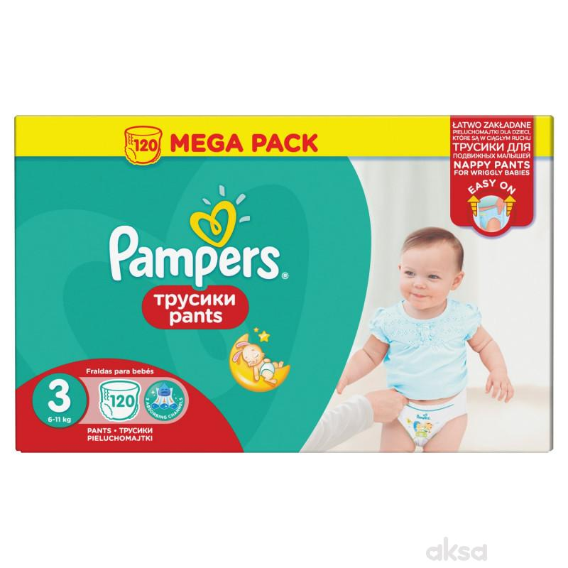 Pampers pants pelene MB 3 midi 6-11kg 120kom