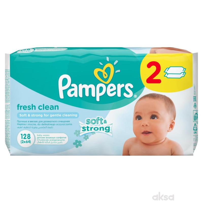 Pampers baby vlažne maramice fresh 2x64kom